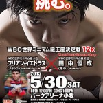 試合予定:5/30(土) WBO世界ミニマム級王座決定戦