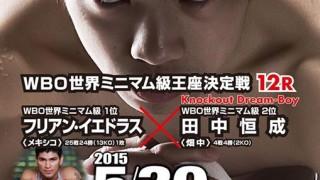 試合結果:WBO世界ミニマム級王座決定戦 5月30日