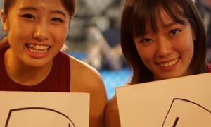 法 DATE選手、華 DATE選手。サイン色紙プレゼント