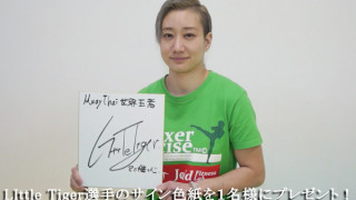 Little Tiger選手-サイン色紙プレゼント企画