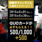 東池袋駅-東拳ボクシングジム入会キャンペーン