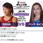 【アンケート】RIZIN12.31 「アンディ・ウィン vs. 山本美憂」、「RENA vs. ハンナ・タイソン」勝敗予想結果発表